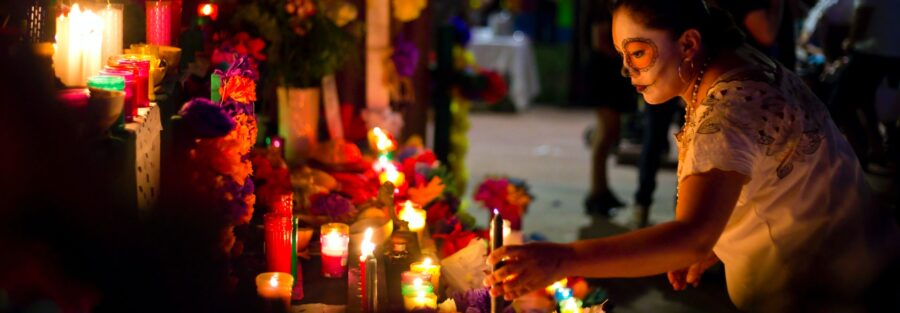 A traditional ofrenda in Cozumel.